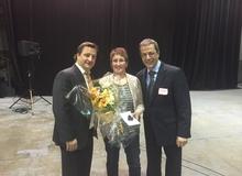 Denise Blanchard aux côtés de Michel Rail et de Carl Desjardins